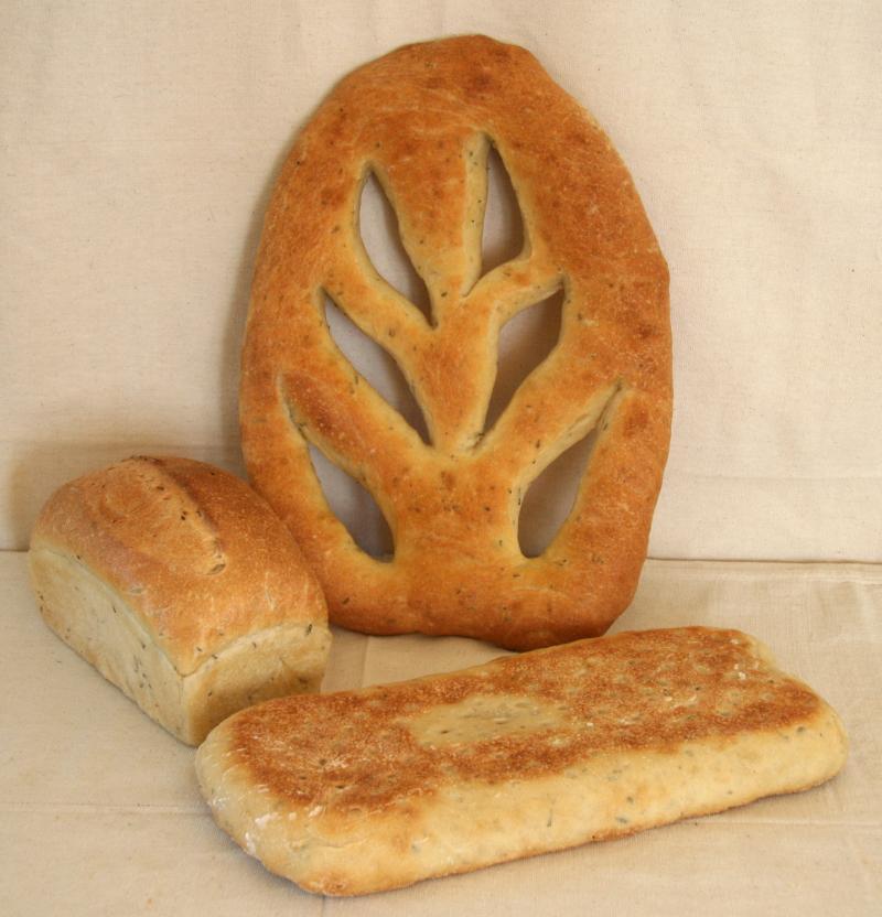 Herb Slab Loaf Fougasse
